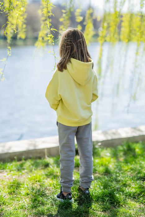 Set Easy-Fit Kids hanorac si pantalon Yellow/Grey [4]