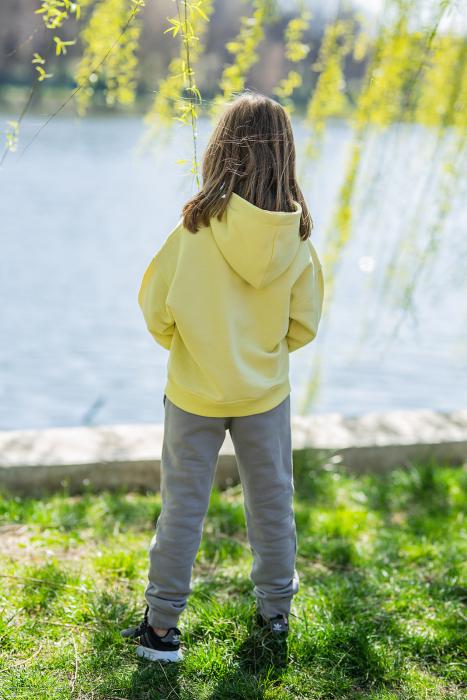 Set Easy-Fit Kids hanorac si pantalon Yellow/Grey [3]