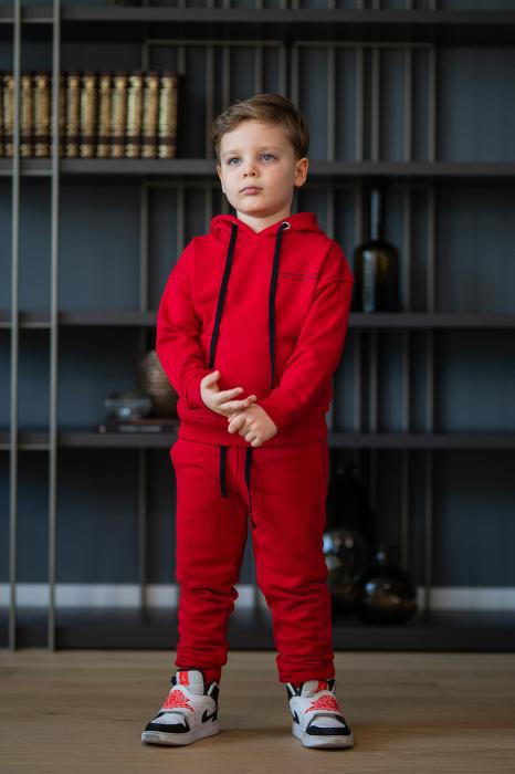 Set Easy-Fit Kids hanorac si pantalon rosu [1]