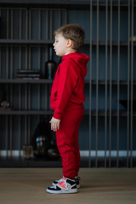 Set Easy-Fit Kids hanorac si pantalon rosu [2]