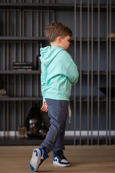 Set Easy-Fit Kids hanorac si pantalon Mint/Grey anthracite [4]