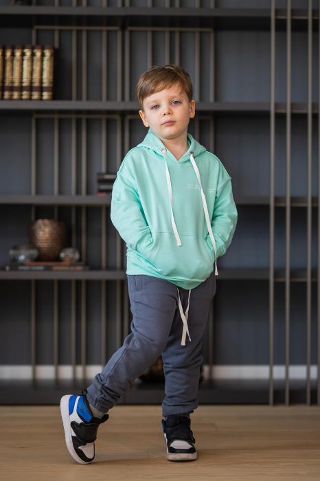 Set Easy-Fit Kids hanorac si pantalon Mint/Grey anthracite [3]