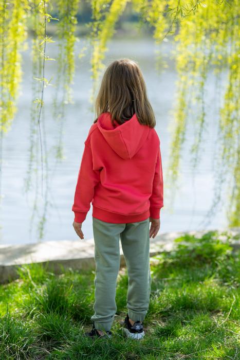 Set Easy-Fit Kids hanorac si pantalon Coral/Light Green [2]