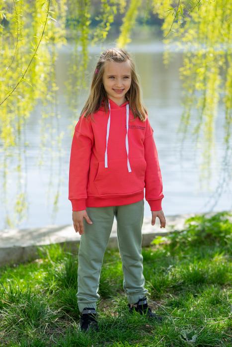 Set Easy-Fit Kids hanorac si pantalon Coral/Light Green [0]