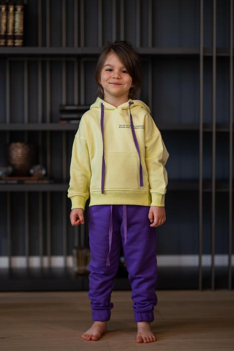 Set Easy-Fit Kids hanorac si pantalon yellow/mueve [0]