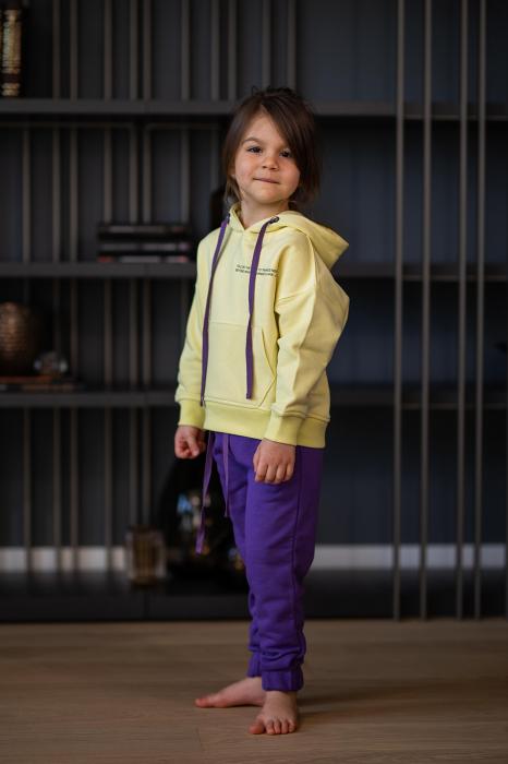 Set Easy-Fit Kids hanorac si pantalon yellow/mueve [2]