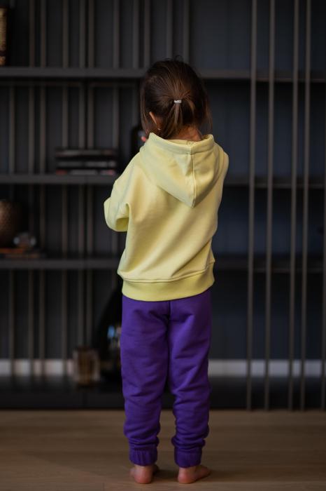 Set Easy-Fit Kids hanorac si pantalon yellow/mueve [3]