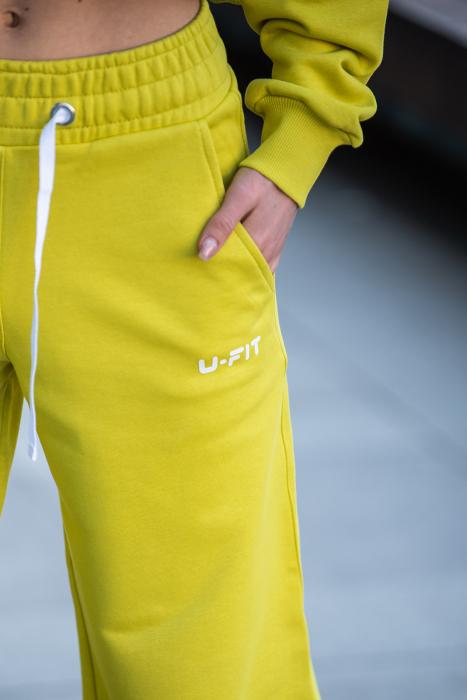 Set Love hanorac imprimat si pantalon Lime Green [6]