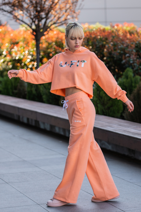Set Love hanorac imprimat si pantalon Papaya [1]