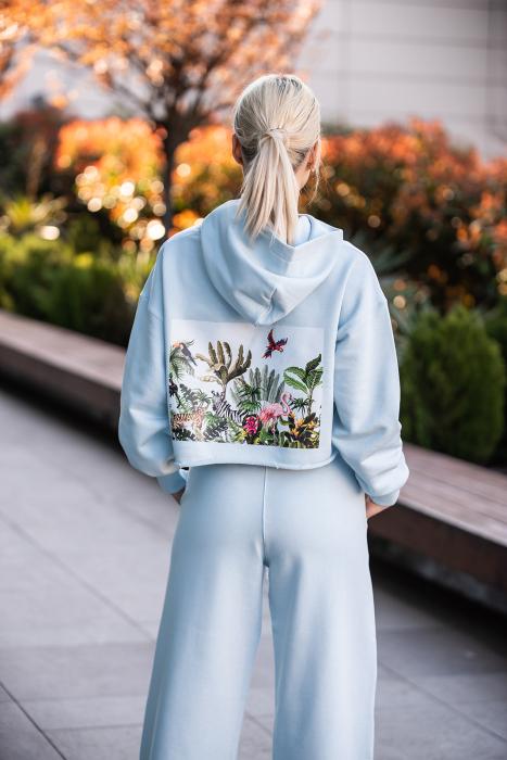 Set Love hanorac imprimat si pantalon Sky Blue [4]