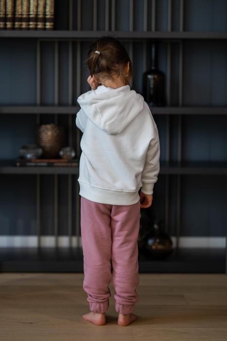 Set Easy-Fit Kids hanorac imprimat si pantalon White/Rose Quartz [2]