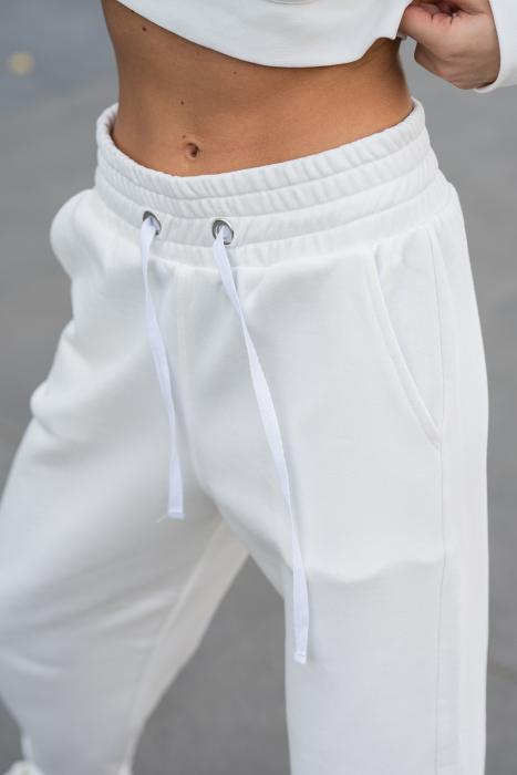 Set Cotton Cloud hanorac si pantalon Off White [6]