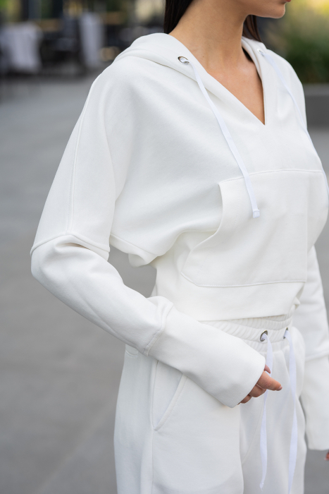 Set Cotton Cloud hanorac si pantalon Off White [5]