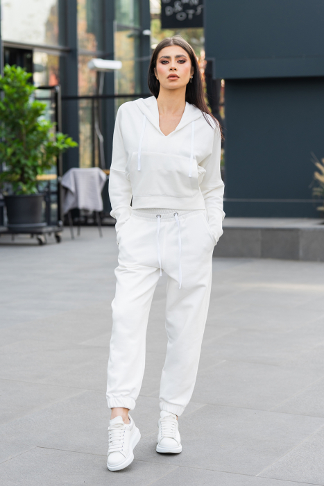 Set Cotton Cloud hanorac si pantalon Off White [3]