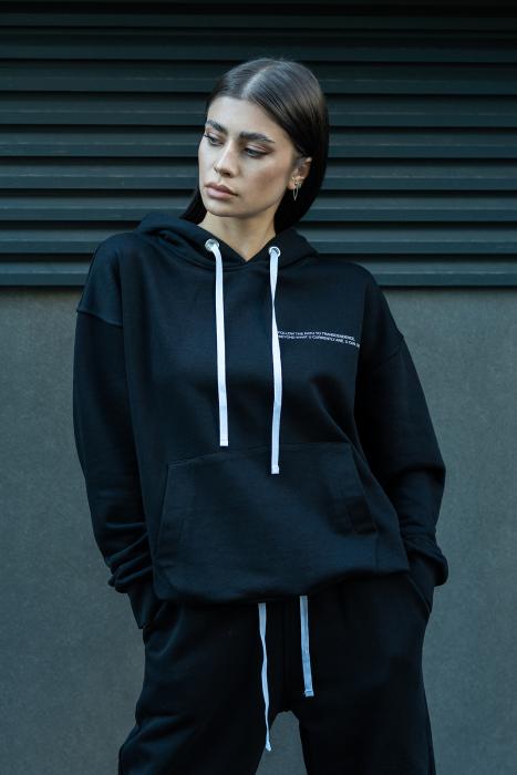 Hanorac Oversized Easy-Fit Black [0]