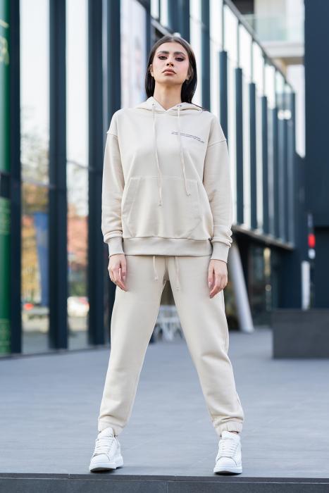 Set Easy-Fit hanorac si pantalon Oversized Light Beige [1]