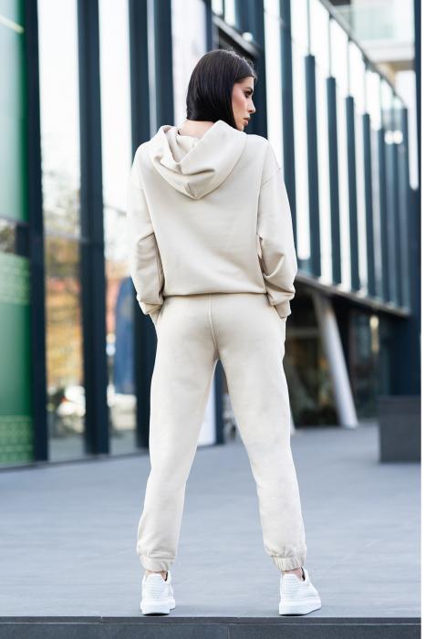 Set Easy-Fit hanorac si pantalon Oversized Light Beige [3]