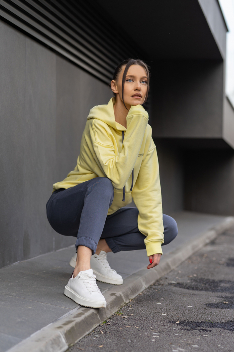 Set Easy-Fit hanorac si pantalon Oversized Yellow/Anthracite Grey [5]