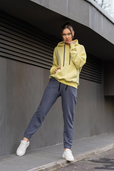 Set Easy-Fit hanorac si pantalon Oversized Yellow/Anthracite Grey [3]