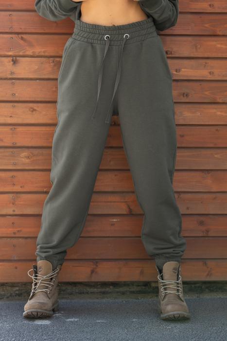 Set hanorac si pantalon Oversized Easy-Fit dark olive [5]