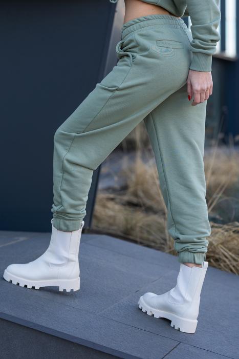 Set Easy-Fit hanorac si pantalon Oversized Light Olive [13]