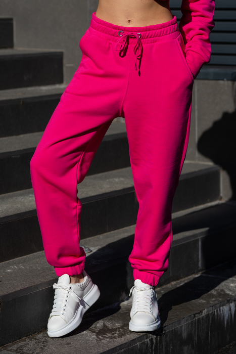 Pantalon Oversized Easy-Fit Magenta [0]