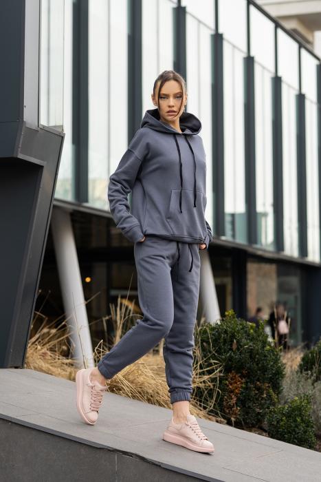 Set Easy-Fit hanorac si pantalon Oversized Anthracite Grey [0]