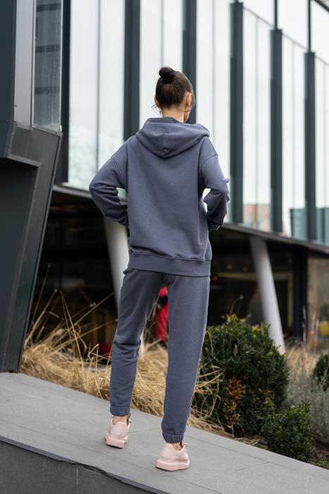 Set Easy-Fit hanorac si pantalon Oversized Anthracite Grey [4]
