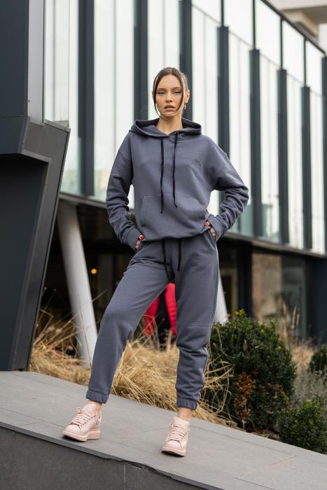 Set Easy-Fit hanorac si pantalon Oversized Anthracite Grey [3]