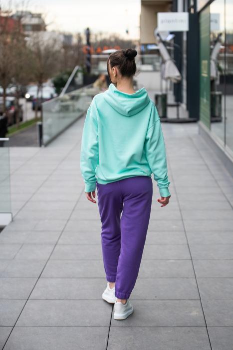 Set hanorac si pantalon Oversized Easy-Fit Mint/Mauve [4]