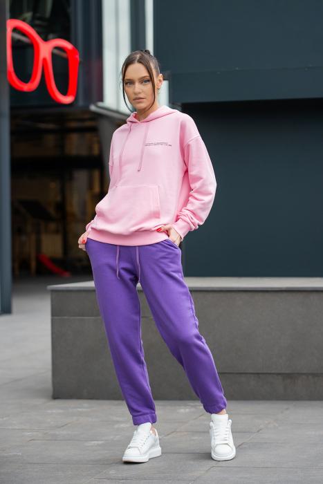 Set Easy-Fit hanorac si pantalon Oversized Rose/Mauve [0]