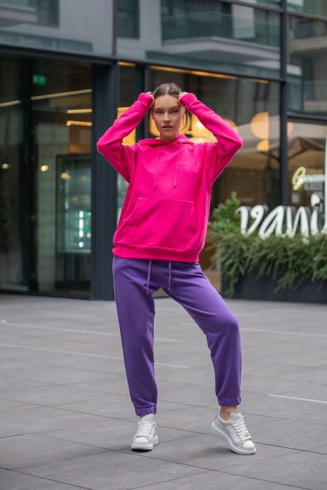 Set hanorac si pantalon Oversized Easy-Fit Magenta/Mauve [0]