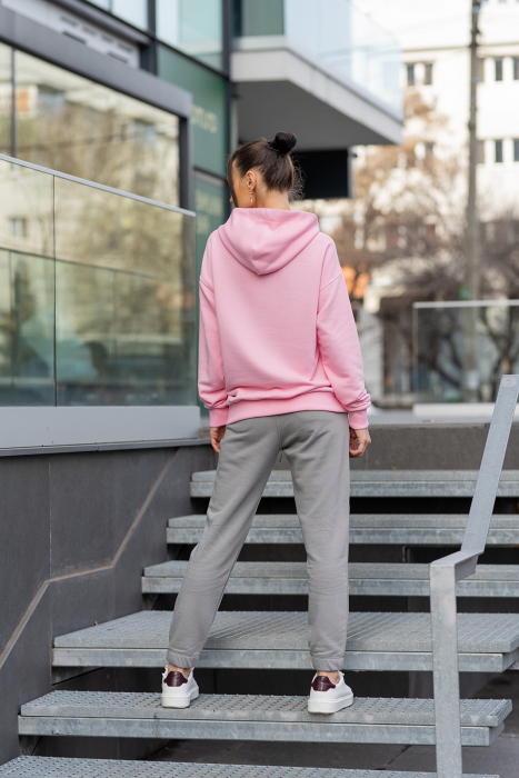 Set hanorac si pantalon Oversized Easy-Fit Rose/Grey [3]