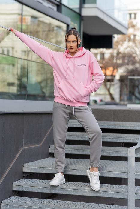 Set hanorac si pantalon Oversized Easy-Fit Rose/Grey [1]