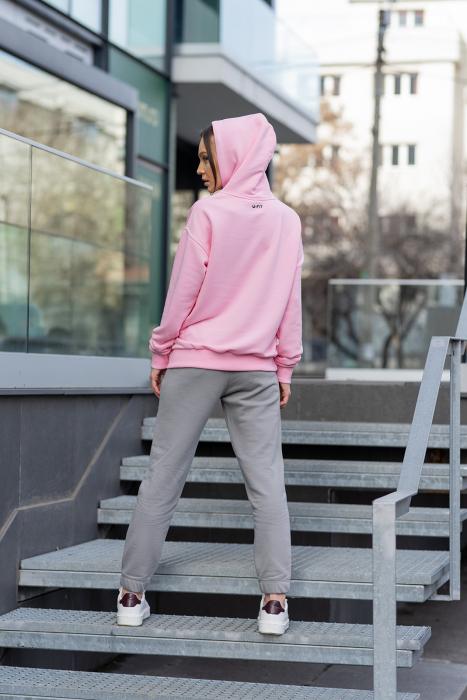Set hanorac si pantalon Oversized Easy-Fit Rose/Grey [4]