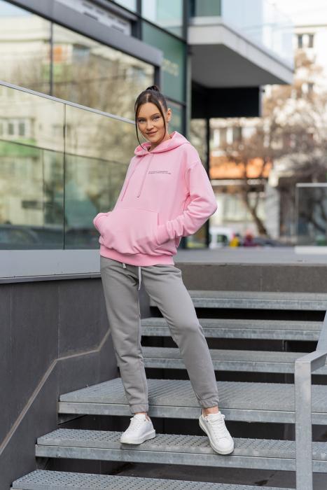 Set hanorac si pantalon Oversized Easy-Fit Rose/Grey [0]