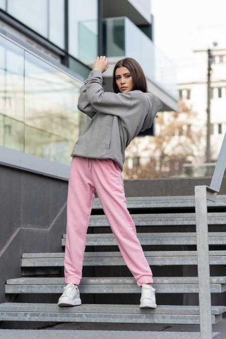 Set hanorac si pantalon Oversized Easy-Fit Grey/Rose [1]