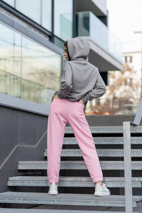 Set hanorac si pantalon Oversized Easy-Fit Grey/Rose [4]