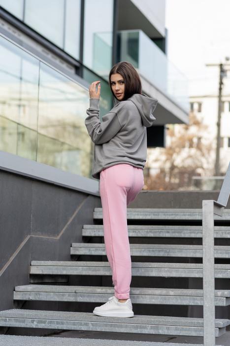 Set hanorac si pantalon Oversized Easy-Fit Grey/Rose [2]