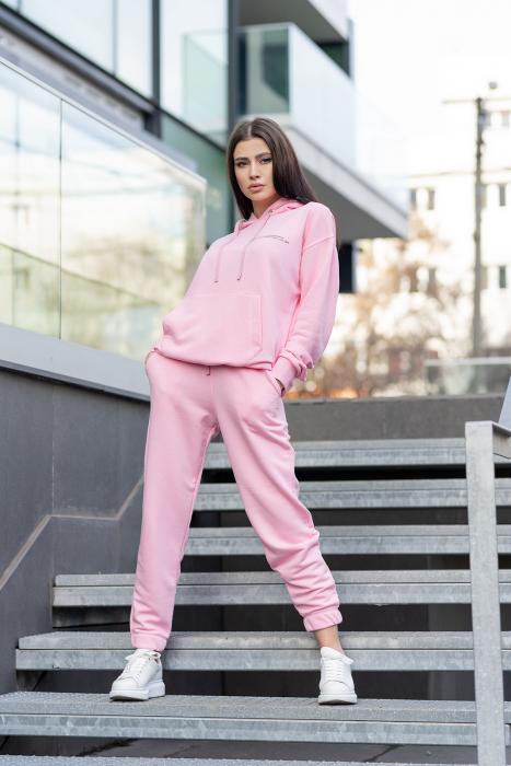 Set hanorac si pantalon Oversized Easy-Fit Rose [3]