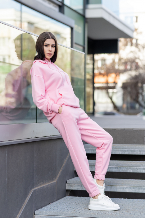 Set hanorac si pantalon Oversized Easy-Fit Rose [0]