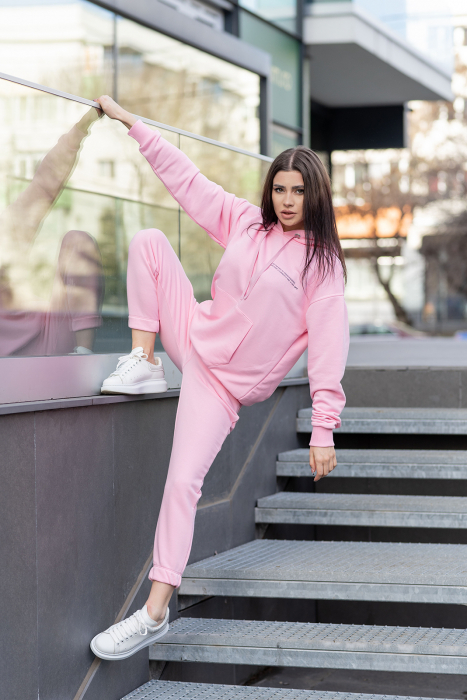 Set hanorac si pantalon Oversized Easy-Fit Rose [1]