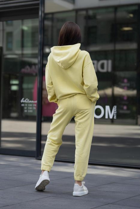 Set Easy-Fit hanorac si pantalon Oversized Yellow [4]