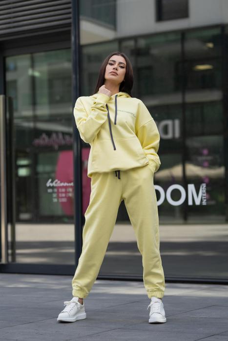 Set Easy-Fit hanorac si pantalon Oversized Yellow [7]