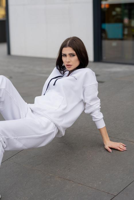 Set hanorac si pantalon Oversized Easy-Fit Off White [2]