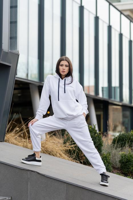 Set hanorac si pantalon Oversized Easy-Fit Off White [0]