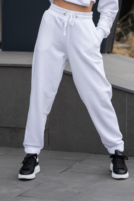 Set hanorac si pantalon Oversized Easy-Fit Off White [13]