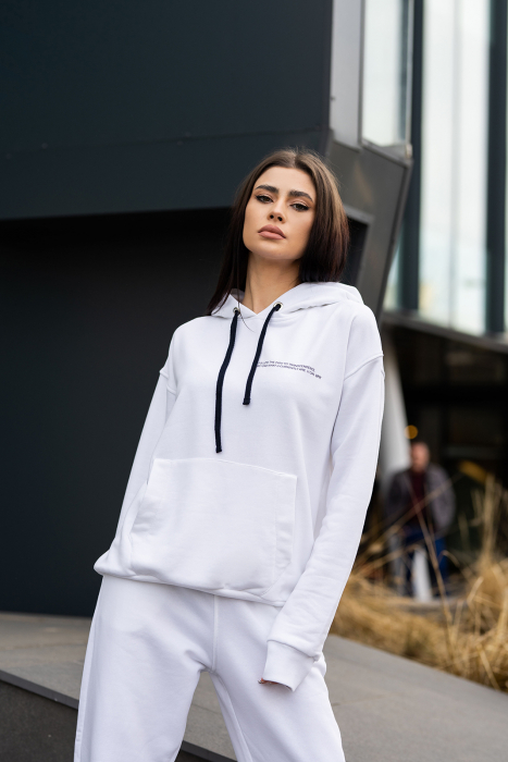 Hanorac Easy-Fit Oversized Off White [2]