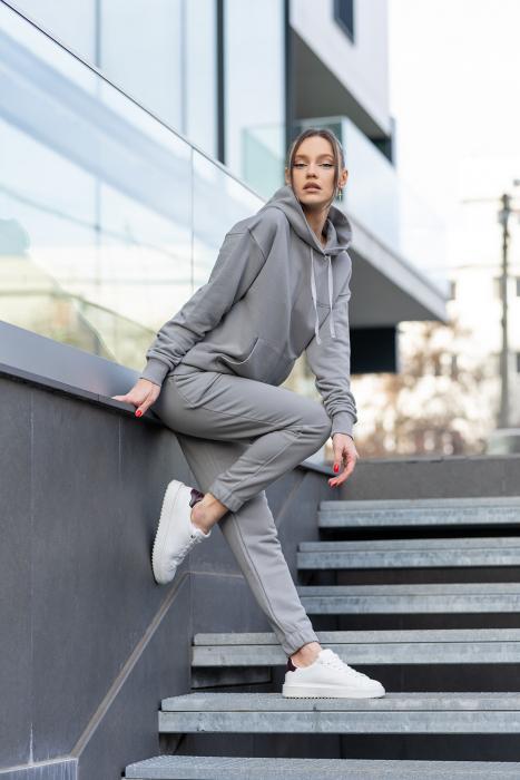 Set hanorac si pantalon Oversized Easy-Fit Grey [0]