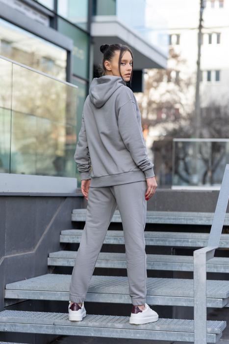 Set hanorac si pantalon Oversized Easy-Fit Grey [3]